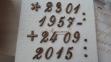 Цифры бронзовые курсив высота 2,3 см Lorenzi (Лорензи) 0