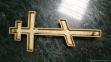 Крест православный бронза арт.41039 Vezzani 9x20 см 1