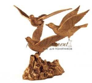 Скульптура три голубя бронза 33604 Caggiati