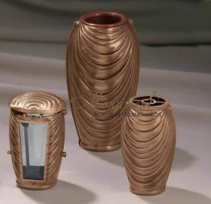 Ваза из бронзы с медным стаканом 8799 Lorenzi