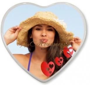 Фотокерамика сердце 40х40 см Италия