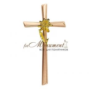 Крест бронза с цветком 2080 Lorenzi (Лорензи)