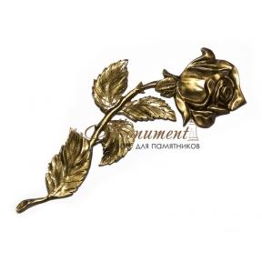Роза латунь правая P4