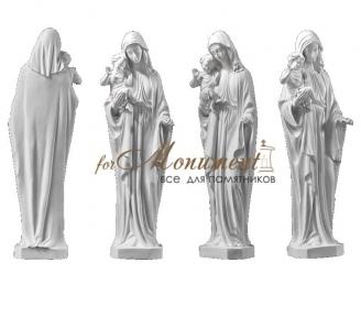 Статуя миниатюра дева Мария с Иисусом СК-007