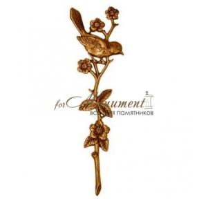 Цветок с птицей 25 см, 29506 Caggiati