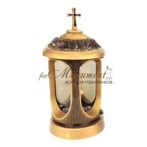 Лампада алюминиевая с крестиком