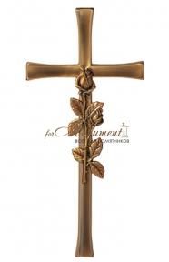 Крест с розой бронза 23453 Caggiati (Каджиати)