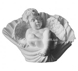 Ангелок спящий с ракушке СК-016
