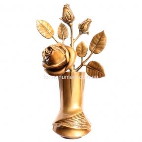 Розы в вазе бронза 25 см, 29211 Caggiati