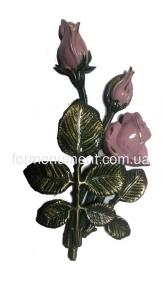 Розы из бронзы с покраской арт.3787 Lorenzi