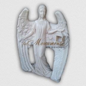Барельеф ангел со светильником А23