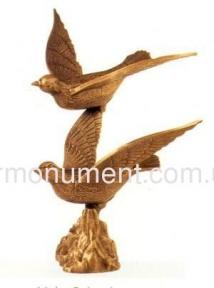 Скульптура два голубя бронза 33581 Caggiati