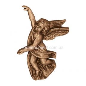 Барельеф ангелочек бронза 3004 Lorenzi (Лорензи)