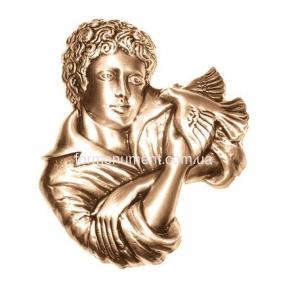 Барельеф мальчик с птицей 3057 Lorenzi (Лорензи)