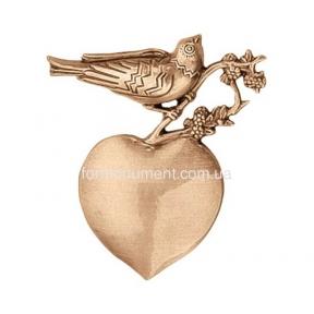 Барельеф птица с сердцем 3562 Lorenzi (Лорензи)