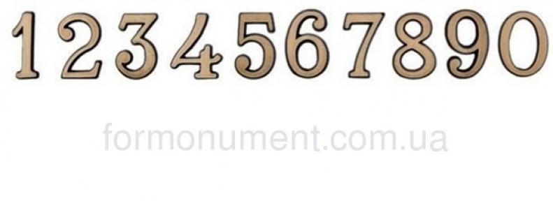 Цифры бронзовые 4 см Lorenzi (Лорензи)