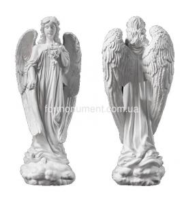 Ангел с розами миниатюра СК-006
