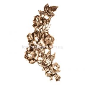 Букет роз с ленточкой бронза 3144 Lorenzi (Лорензи) 15х27 см