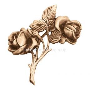 Две розы бронза 3152 Lorenzi (Лорензи) 12,5х13 см