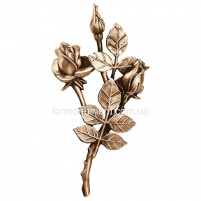 Ветви розы бронза 3743 dx Lorenzi (Лорензи) 13х25 см