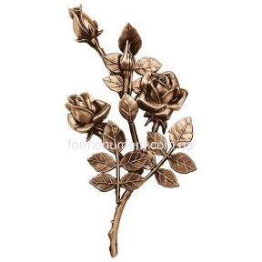 Ветвь с розами бронза 3745 dx Lorenzi (Лорензи) 16x30 см