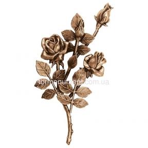 Ветвь с розами бронза 3745 sx Lorenzi (Лорензи) 16x30 см