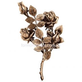 Ветвь роз бронза 3749 dx Lorenzi (Лорензи) 16x30 см
