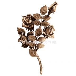 Ветвь роз бронза 3749 sx Lorenzi (Лорензи) 16x30 см