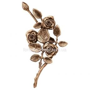 Ветвь роз бронза 3751 dx Lorenzi (Лорензи) 14х27 см
