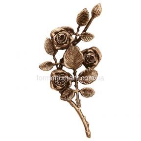 Ветвь роз бронза 3751 sx Lorenzi (Лорензи) 14х27 см