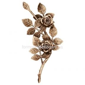 Ветвь роз бронза 3752 dx Lorenzi (Лорензи) 13х28 см