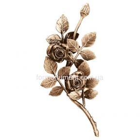Ветвь роз бронза 3752 sx Lorenzi (Лорензи) 13х28 см