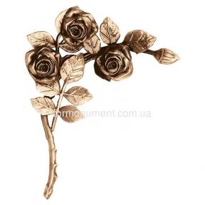 Ветвь роз бронза 3753 sx Lorenzi (Лорензи) 19x24 см