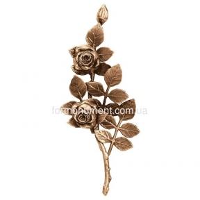 Ветвь роз бронза 3754 Lorenzi (Лорензи) 12x30 см