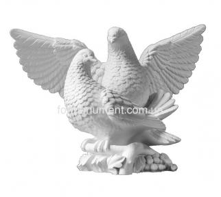 Скульптура пара голубей СК-011