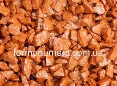 Оранжевый декоративный щебень для памятника 20 кг