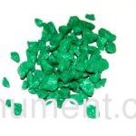Зеленый декоративный щебень для памятника 20 кг