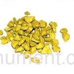 Желтый декоративный щебень для памятника 20 кг