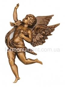 Барьеф ангела бронза 17x11 см 31050 Caggiati