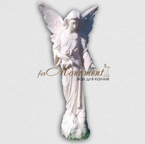Статуя ангел девушка с цветами А21