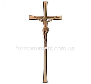 Крест с распятием из бронзы 2624 Jorda 40x16 см
