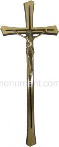 Крест католический из латуни 12х30 см арт.006_1