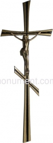 Крест латунный православный 12,5х34 см арт.014