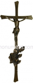 Крест с распятием и розой 15х40 см арт.019