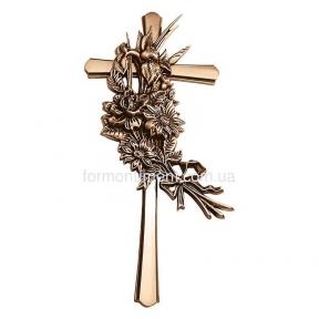 Крест с букетом 2178 Lorenzi (Лорензи) 18х40 см