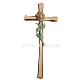 Крест с розой 2180 Lorenzi (Лорензи) 18х40 см
