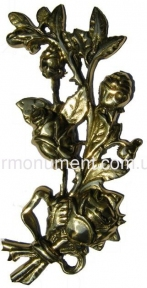 Букет роз с лентой латунь H25 см арт.306