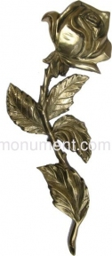 Роза латунь H30,5 см арт.308
