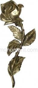 Роза латунь H30,5 см арт.309