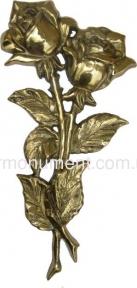 Две розы латунь 14х29 см арт.313